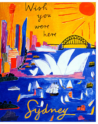 作品photo:Postcard from Sydney I, 1995