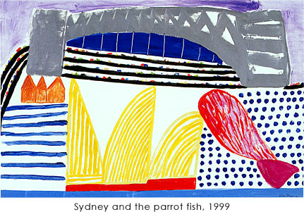 作品photo:Sydney and the parrot fish, 1999