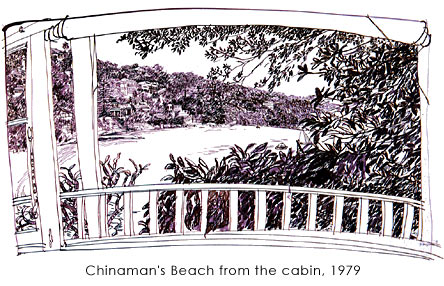 作品photo:Chinaman's Beach from the cabin, 1979