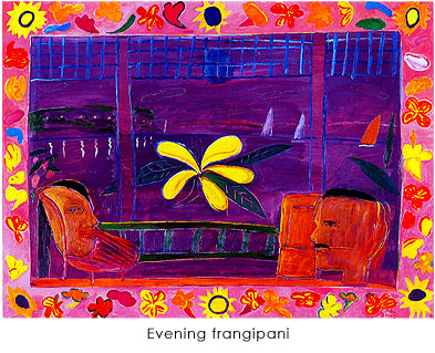 作品photo:Evening frangipani